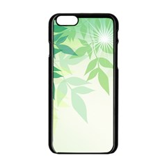 Spring Leaves Nature Light Apple Iphone 6/6s Black Enamel Case by Simbadda