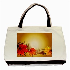 Background Leaves Dry Leaf Nature Basic Tote Bag by Simbadda