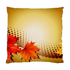 Background Leaves Dry Leaf Nature Standard Cushion Case (one Side) by Simbadda