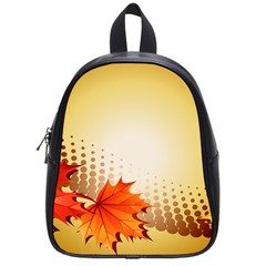 Background Leaves Dry Leaf Nature School Bags (small)  by Simbadda