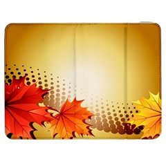 Background Leaves Dry Leaf Nature Samsung Galaxy Tab 7  P1000 Flip Case by Simbadda