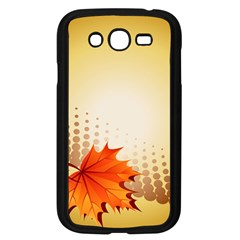 Background Leaves Dry Leaf Nature Samsung Galaxy Grand Duos I9082 Case (black) by Simbadda