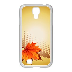 Background Leaves Dry Leaf Nature Samsung Galaxy S4 I9500/ I9505 Case (white) by Simbadda