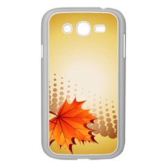 Background Leaves Dry Leaf Nature Samsung Galaxy Grand Duos I9082 Case (white) by Simbadda