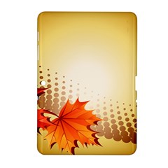 Background Leaves Dry Leaf Nature Samsung Galaxy Tab 2 (10 1 ) P5100 Hardshell Case  by Simbadda