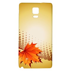 Background Leaves Dry Leaf Nature Galaxy Note 4 Back Case by Simbadda
