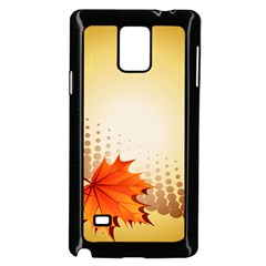 Background Leaves Dry Leaf Nature Samsung Galaxy Note 4 Case (black) by Simbadda