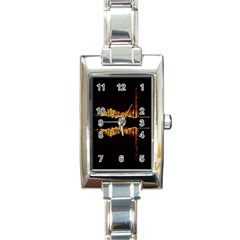 Waste Incineration Incinerator Rectangle Italian Charm Watch by Simbadda