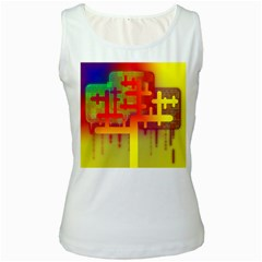 Binary Binary Code Binary System Women s White Tank Top