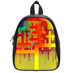 Binary Binary Code Binary System School Bags (small)  by Simbadda