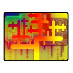 Binary Binary Code Binary System Fleece Blanket (small) by Simbadda