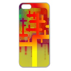 Binary Binary Code Binary System Apple Seamless Iphone 5 Case (clear) by Simbadda