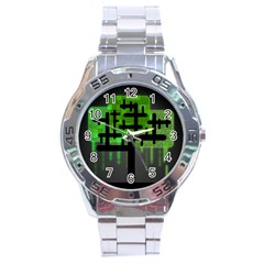 Binary Binary Code Binary System Stainless Steel Analogue Watch by Simbadda