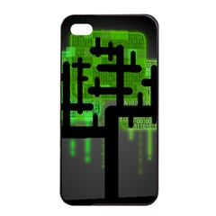 Binary Binary Code Binary System Apple Iphone 4/4s Seamless Case (black) by Simbadda