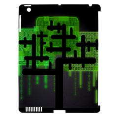 Binary Binary Code Binary System Apple Ipad 3/4 Hardshell Case (compatible With Smart Cover) by Simbadda