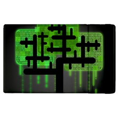 Binary Binary Code Binary System Apple Ipad 3/4 Flip Case by Simbadda