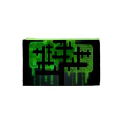 Binary Binary Code Binary System Cosmetic Bag (xs) by Simbadda