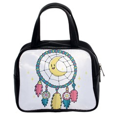 Cute Hand Drawn Dreamcatcher Illustration Classic Handbags (2 Sides) by TastefulDesigns