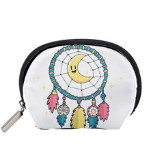 Cute Hand Drawn Dreamcatcher Illustration Accessory Pouches (small)  by TastefulDesigns