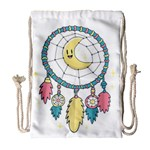 Cute Hand Drawn Dreamcatcher Illustration Drawstring Bag (Large) Front