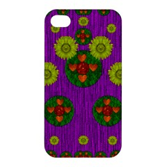Buddha Blessings Fantasy Apple Iphone 4/4s Premium Hardshell Case by pepitasart