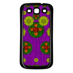 Buddha Blessings Fantasy Samsung Galaxy S3 Back Case (black) by pepitasart