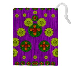 Buddha Blessings Fantasy Drawstring Pouches (xxl) by pepitasart