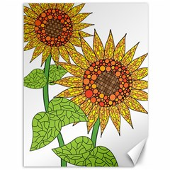 Sunflowers Flower Bloom Nature Canvas 36  X 48
