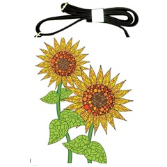 Sunflowers Flower Bloom Nature Shoulder Sling Bags by Simbadda