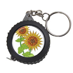 Sunflowers Flower Bloom Nature Measuring Tapes by Simbadda