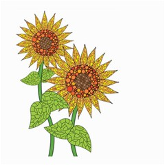 Sunflowers Flower Bloom Nature Small Garden Flag (two Sides) by Simbadda