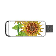 Sunflowers Flower Bloom Nature Portable Usb Flash (two Sides) by Simbadda