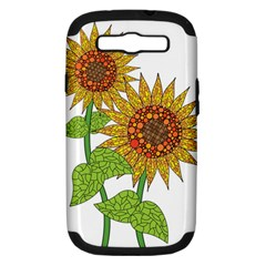 Sunflowers Flower Bloom Nature Samsung Galaxy S Iii Hardshell Case (pc+silicone) by Simbadda