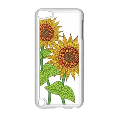 Sunflowers Flower Bloom Nature Apple Ipod Touch 5 Case (white) by Simbadda