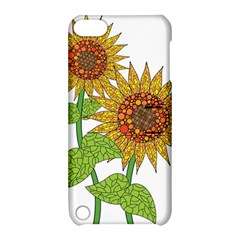 Sunflowers Flower Bloom Nature Apple Ipod Touch 5 Hardshell Case With Stand by Simbadda