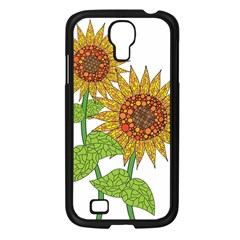 Sunflowers Flower Bloom Nature Samsung Galaxy S4 I9500/ I9505 Case (black) by Simbadda
