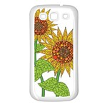 Sunflowers Flower Bloom Nature Samsung Galaxy S3 Back Case (White) Front