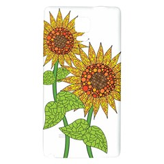 Sunflowers Flower Bloom Nature Galaxy Note 4 Back Case