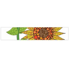 Sunflowers Flower Bloom Nature Flano Scarf (large) by Simbadda