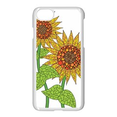 Sunflowers Flower Bloom Nature Apple Iphone 7 Seamless Case (white)