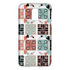 Mint Black Coral Heart Paisley Galaxy S5 Mini by Simbadda