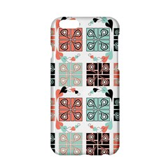 Mint Black Coral Heart Paisley Apple Iphone 6/6s Hardshell Case by Simbadda