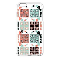 Mint Black Coral Heart Paisley Apple Iphone 6 Plus/6s Plus Enamel White Case by Simbadda