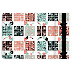 Mint Black Coral Heart Paisley Ipad Air 2 Flip by Simbadda