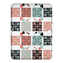 Mint Black Coral Heart Paisley Samsung Galaxy Tab 4 (10 1 ) Hardshell Case