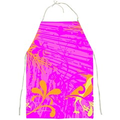 Spring Tropical Floral Palm Bird Full Print Aprons by Simbadda