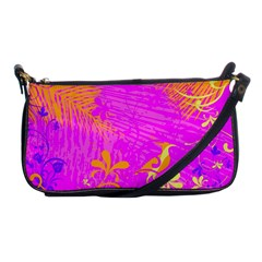 Spring Tropical Floral Palm Bird Shoulder Clutch Bags by Simbadda