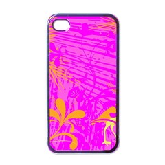 Spring Tropical Floral Palm Bird Apple Iphone 4 Case (black) by Simbadda