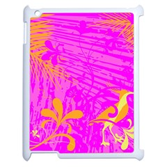 Spring Tropical Floral Palm Bird Apple Ipad 2 Case (white) by Simbadda