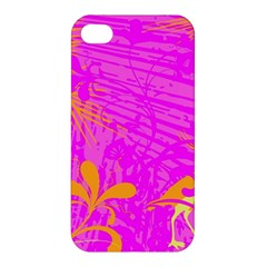 Spring Tropical Floral Palm Bird Apple Iphone 4/4s Premium Hardshell Case by Simbadda